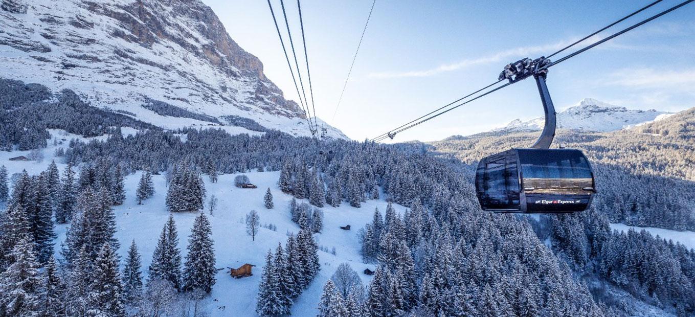 Eiger Express Eiger Nahaufnahme Winter