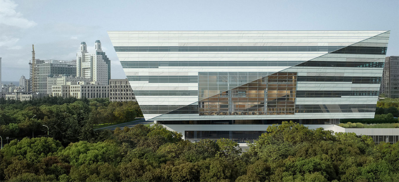 Shanghai library building